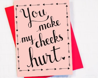Blank Valentine Card for that special someone that makes you smile!