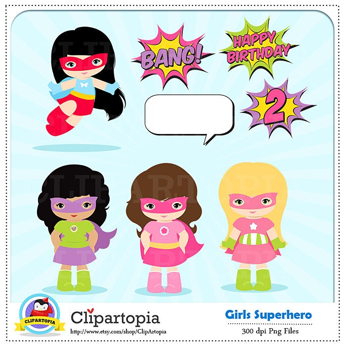 girl superhero clip art super hero girls digital clipart rh etsy com girl superhero clip art free girl superhero clip art black and white