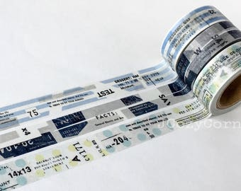 SAMPLE Washi Tape YOHAKU masking tape blue dots stripe
