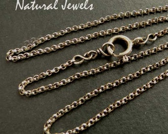Sterling silver rolo-chain necklace 1,5 mm, choose your length