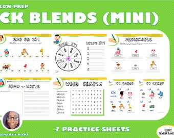 Mini Version: CK Blends Practice Workbook | 11 Pages | LOW PREP