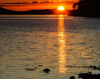 iphone Wallpaper, Sunset Reflected in Loch Ewe, Cell phone background, iPhone lock screen, Cell phone wallpaper, Phone background