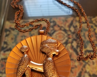 FREE  SHIPPING   1950  Copper  Necklace