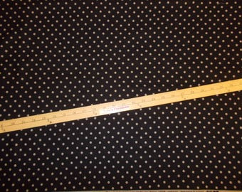 1 Yd Moda Little Black Dress 2 Basic Grey Polka Dot by the Yard 100% Cotton Quilting Lining Sewing Wedding Shower Baby Gifts