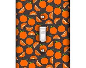Funky Oranges Decorative Single Toggle Light Switch Cover - Decorative Single Toggle Switch Plate Cover