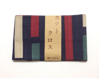 Japanese cotton fabric,  Made in Japan, DIY fabric, patchwork, navy blue, FREE SHIPPING, 50cm x 54cm