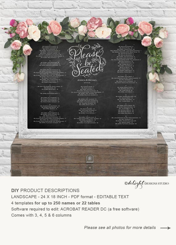 Seating Chart Template Seating Chart Wedding Wedding Seating - Wedding invitation templates: seating chart template wedding