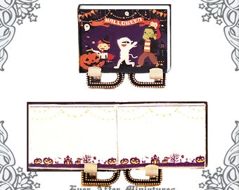 HALLOWEEN COSTUME Miniature Book for Note –1:12 Dollhouse Halloween Costume Miniature Notebook – Miniature Halloween Book Printable DOWNLOAD