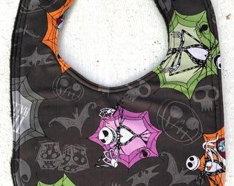 Nightmare Before Christmas  Baby Bib - Infant Bib - Dribble Bib - Gothic Baby - Baby Shower Gift - halloween - Jack Skellington
