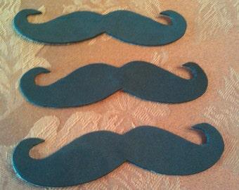 Adhesive Black Foam or Felt Mustaches (3pk), Felt Mustaches, Foam Mustaches