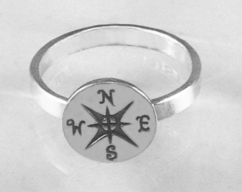 Customized Compass Ring for rtothes