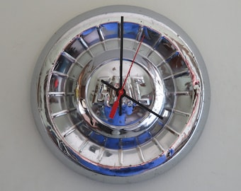 1955-59 GMC Truck Hubcap Clock - Item 2621