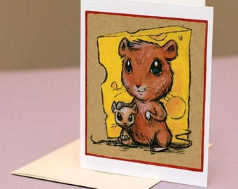 Mice with Cheese, mother's day card