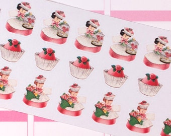 Vintage Bonbon Beauties Planner Stickers