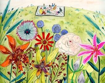 Summer Picnic print - 8x10