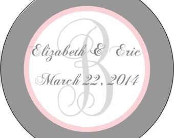 Wedding Labels Flourished, Wedding Favor Stickers, Wedding Labels, Favor Labels, Personalized Party Favor Labels, Wedding Favor Labels