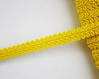 Yellow stripe 10 mm, 1 m, trimming, yellow stripe cotton