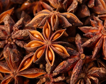 STAR ANISE - 4 oz. - Whole Herbs Organic Natural Wiccan Potpourri Potions Botanical