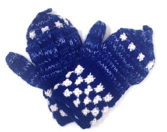 Lambs wool mitten gloves