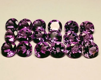 Brazilian AAA Purple - Violet Amethyst Gemstones - 1.2 ct.