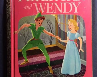 A Little Golden Book - Peter Pan And Wendy First Edition Disney #205 From 1952 E