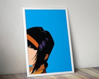Bebop Poster, Bebop, Faye Valentine, Bebop Print, Poster, Art, Print, Anime, Manga, Cowboy Bebop print, Cowboy Bebop, Cowboy Bebop Poster,