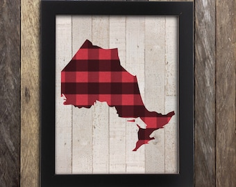 Ontario Art Print, Ontario Map, Toronto Poster, Hamilton Ontario, London Ontario, Ontario Poster, Windsor Ontario, Lake House Cottage Decor