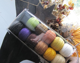 Hallow's Eve Hand dyed Color Fast Thread Kit