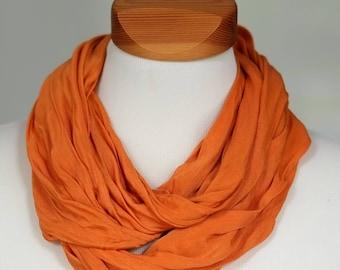 Silk-loop-scarf Bufanda, bright-orange