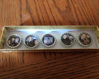 Bottle cap magnet set- Dr. Who 1