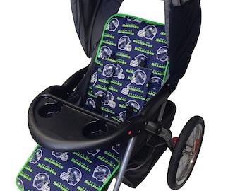 Seahaws Stroller Liner-Reverses to Navy Minky