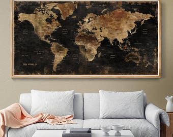 World map wall art etsy best selling items favorite favorited add to added world map wall gumiabroncs