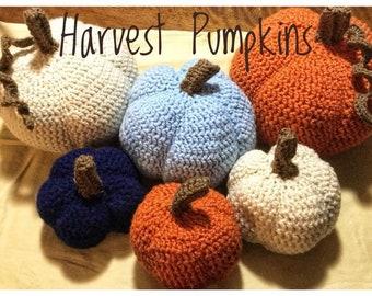 Crochet Pumpkins, Fall Harvest Pumpkins, Fall Decorations