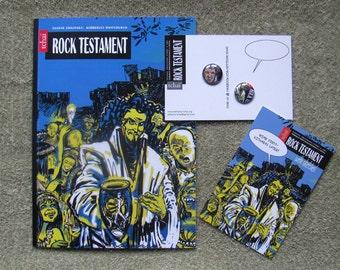 Comic book graphic novel - Rock Testament - smart tale - by Toronto comics artist