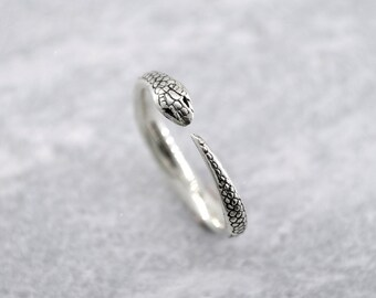 Snake Stacking Ring in Sterling Silver