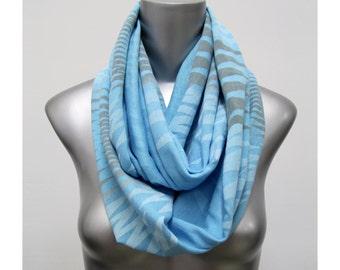 Blue Scarf, Infinity Scarf