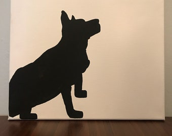 Custom Pet Silhouette Canvas