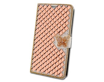 Wallet Case for many phone models - Luxury Rhinestone Crystal Bling Chic Strass