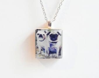 Your Photo Custom Jewelry - Scrabble Tile Necklace - Hipstamatic - Personalized Photo Jewelry - Custom Photo Jewelry - Instagram Pendant