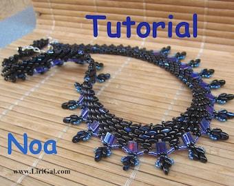 Noa SuperDuo and Tila Beadwork Necklace PDF Tutorial
