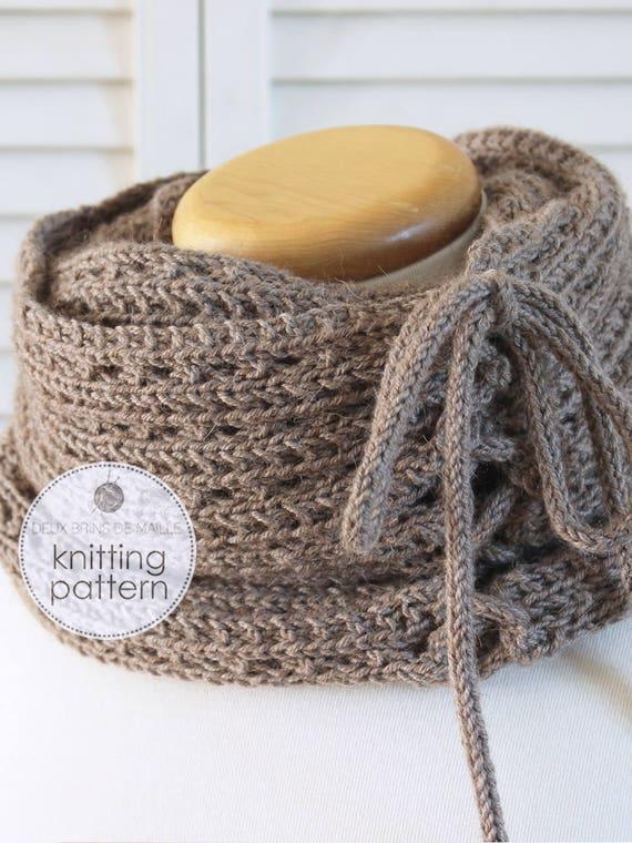 Knitting Pattern Scarf. Knitting Pattern Cowl. Knit Scarf. Knit ...