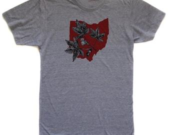 ohio shirt, buckeye tshirt, ohio buckeye tshirt, ohio state buckeyes, buckeye design, unisex tshirt, megan lee designs, men's gift idea