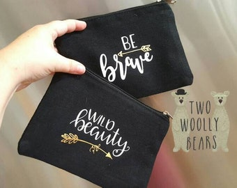Personalised Zippered Pouch/Bag