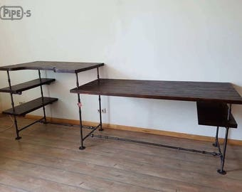 industrial pipe furniture. Industrial Table, Loft Style, Оffice Pipe Decor Furniture