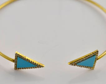 Maya J Turquoise Triangle Bangle