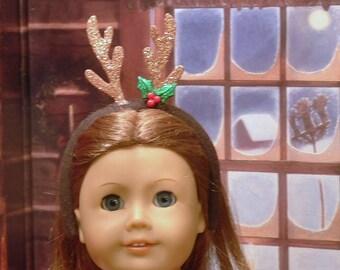 Reindeer Headband for American Girl Dolls