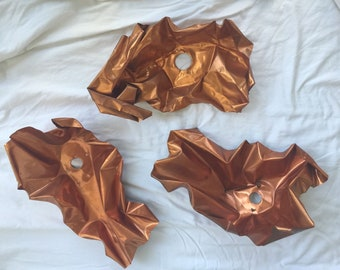 3 Copper Relief Wall Sculptures By Ellamarie And Jackson Woolley