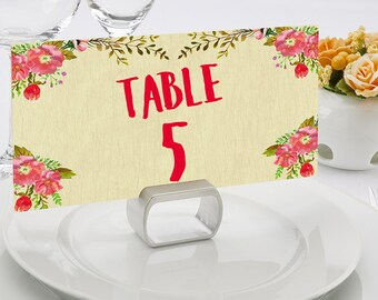 Rustic Wedding table number printable Number wedding table number wedding printable tables number for wedding flower table decor table cards