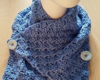 Crocheted cowl/neck warmer