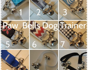 Paw Bells, Dog Housebreaking Potty Trainer, In Sturdy Poly Webbing, Instructions included
